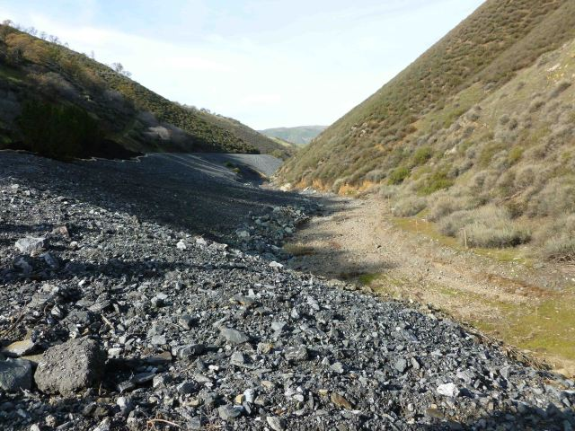 Hetch Hetchy tailings dumped in the canyon