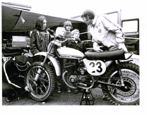 With Roger DeCoster at Carnegie