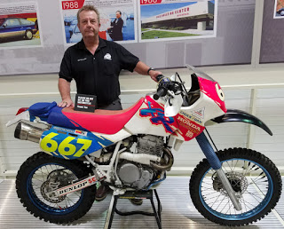 Don Amador with his Honda
