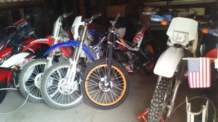 bikes back inside my garage